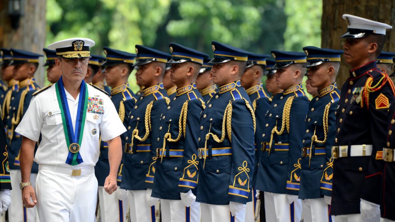 El almirante Harry Harris en una visita reciente a Filipinas