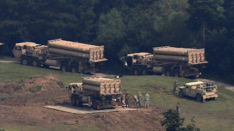 Nuevos lanzadores del escudo antimisiles de Estados Unidos en Corea del Sur