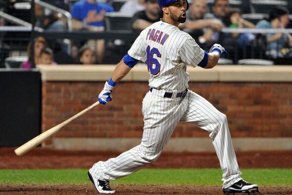 CF. Ángel Pagán. Mets de Nueva York. El boricua tuvo un promedio de .290...