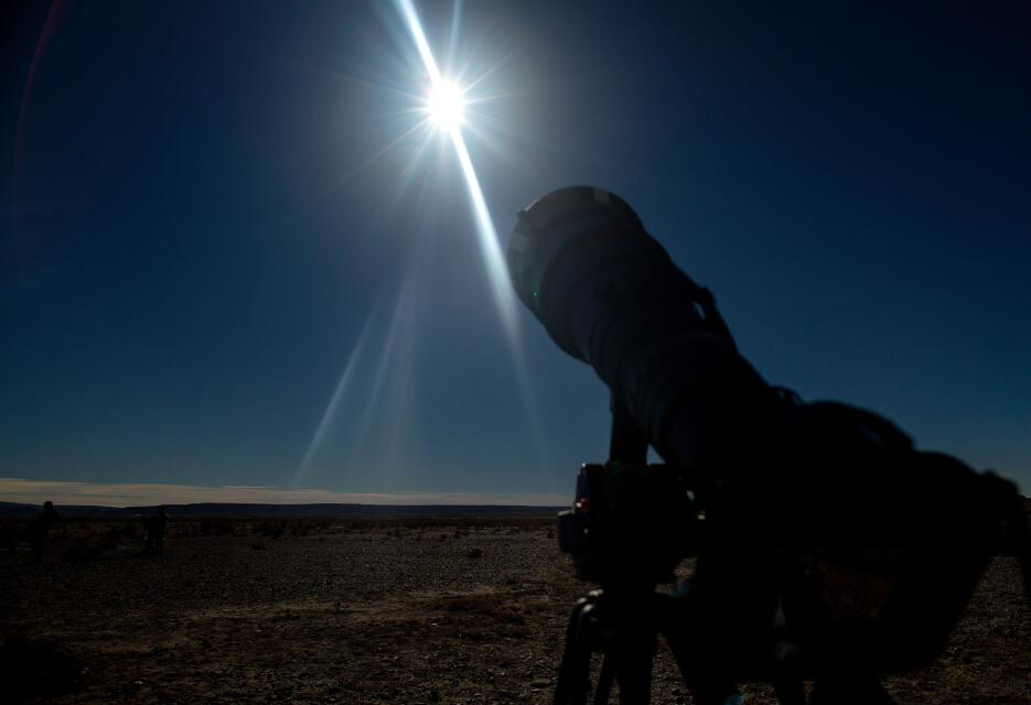 Así se vio el eclipse solar anular en Argentina