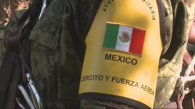 Rescatistas mexicanos llegaron a Guatemala para la búsqueda de sobrevivi...