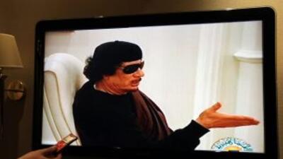 Mohammar Gadafi reapareció hace unos días en la televisión de Libia.