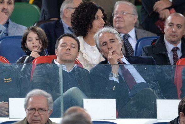 El primer ministro Matteo Renzi aprovechó que la final se jugaba en Roma...