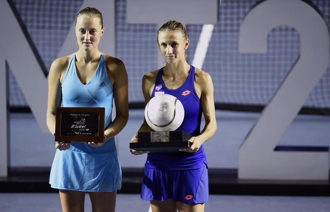 Tsurenko y Mladenovic, una hermosa final en el Abierto Mexicano de Tenis...