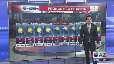 Cielos despejados y temperaturas frescas en Phoenix