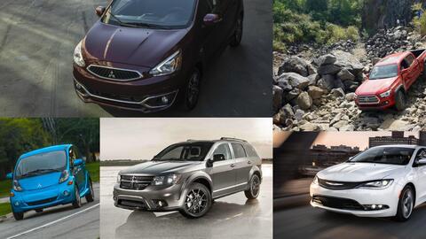 Los diez peores vehículos en el mercado.