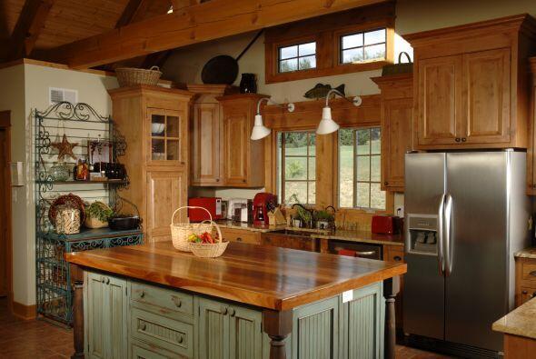 Rústico o campestre. Los ambientes de un hogar decorado siguiendo las pr...