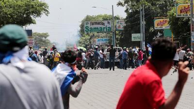 Nueva jornada violenta en Nicaragua: Al menos un muerto y varios heridos en marcha contra Ortega