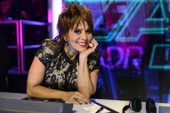Alejandra Guzmán, siempre risueña y llena de energía.