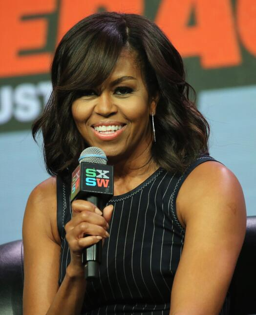 Obama estuvo acompañada de Missy Elliott, Queen Latifah, Diane Warner y...