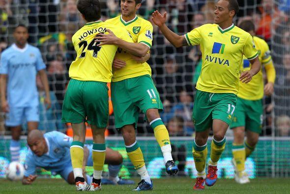 Para la segunda parte, hubo una reacción del Norwich con el gol de Andre...
