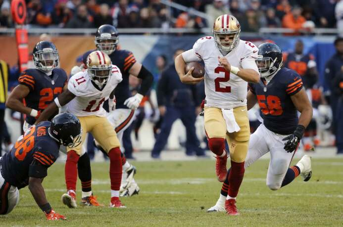Blaine Gabbert tuvo un acarreo para touchdown de 44 yardas y lanzó el pa...