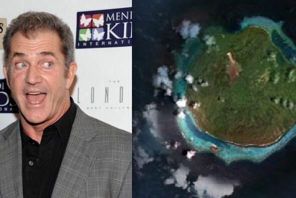 Mel Gibson llamó su isla Mango Island en Fiji, la cual tiene 4.600 acres...