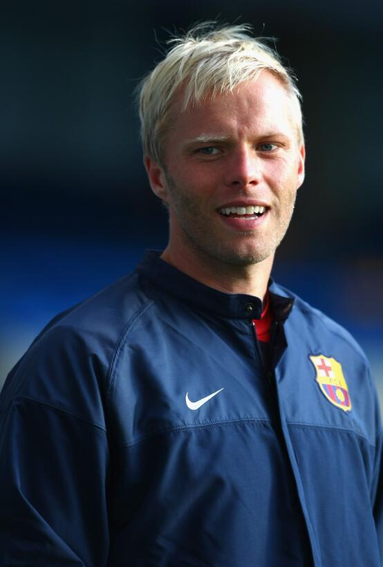 Eidur Gudjohnsen: jugó los últimos segundos del partido. Del Barcelona p...