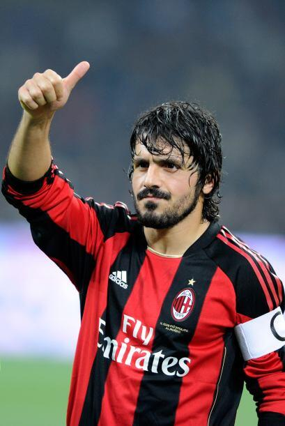 Gennaro Gattuso,  centrocampista del Milan, cuando jugó el Mundia...