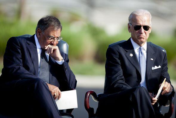 La tristeza y consternación se hizo evidencia en las caras de Biden y Pa...