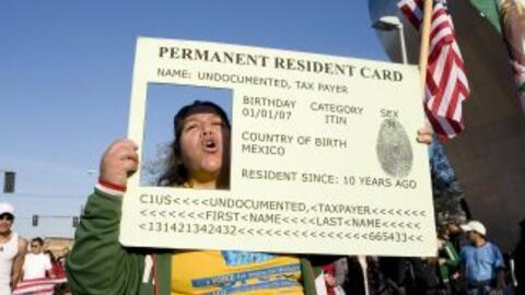 Protestas por la  Green Card.