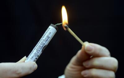 Los peligros de los fuegos artificiales