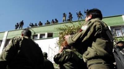 Un grupo de policías de Cochabamba, Bolivia, en una imagen de archivo.