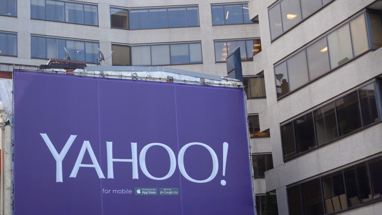 Una valla publicitaria de Yahoo en Washington