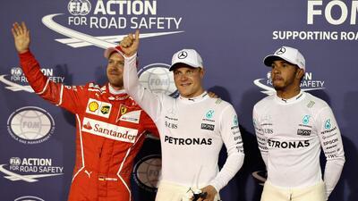 Bottas tendrá la 'pole' en Bahréin con Hamilton y Vettel al acecho