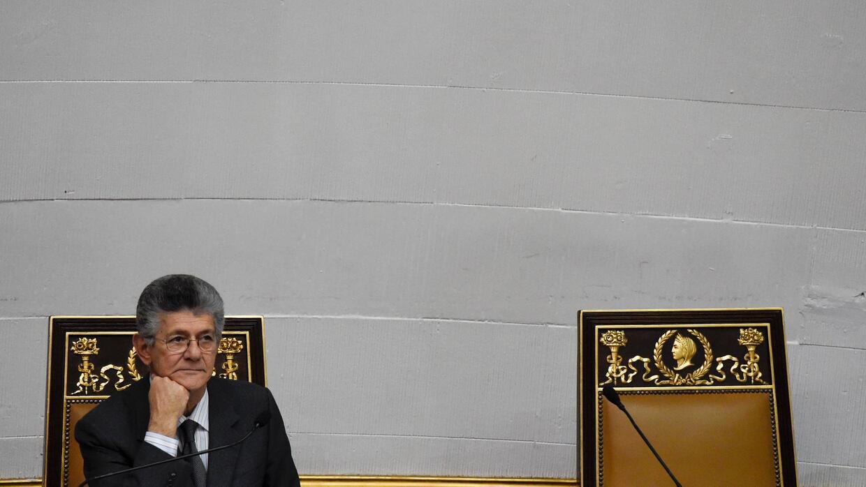 Henry Ramos Allup durante una sesión de la Asamblea Nacional de Venezuela.
