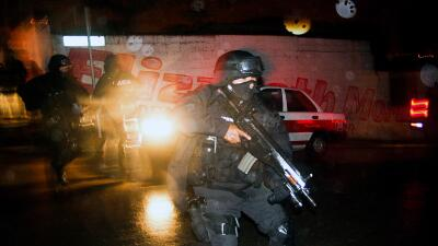 Actuación de la policía en Xalapa, México