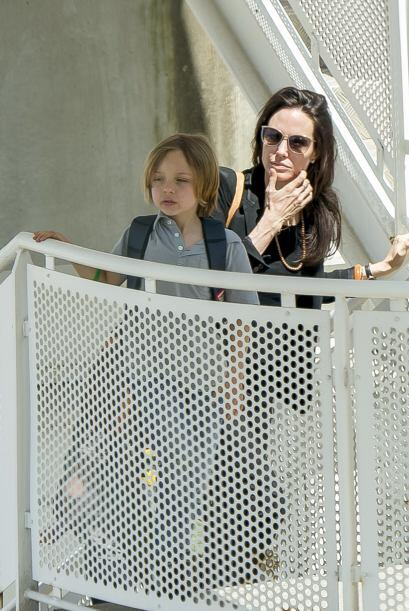 Angelina estuvo siempre al pendiente de todos sus hijos.