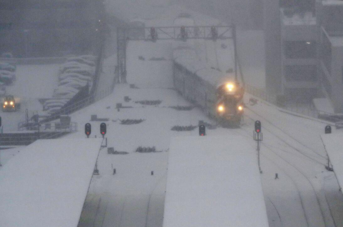 Tormenta de nieve en Chicago