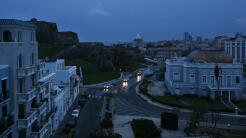 San Juan de Puerto Rico sin electricidad después del paso de María.