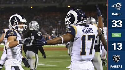 Los Rams destraban un partido que empezó parejo y aplastan a los Raiders