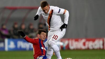 Totti había adelantado a la Loba pero al final el club italiano sacó sol...