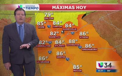 Temperaturas cálidas y posibilidades de lluvias ligeras