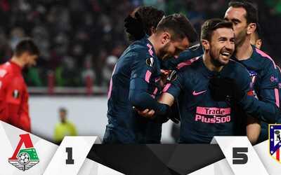 Los colchoneros clasificaron a los cuartos de final de la Europa League.