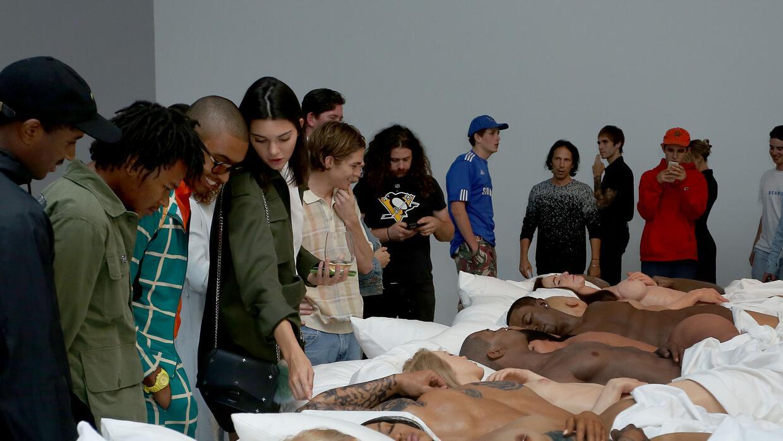 Así de cerca pudo ver el público las esculturas que creó el equipo artís...