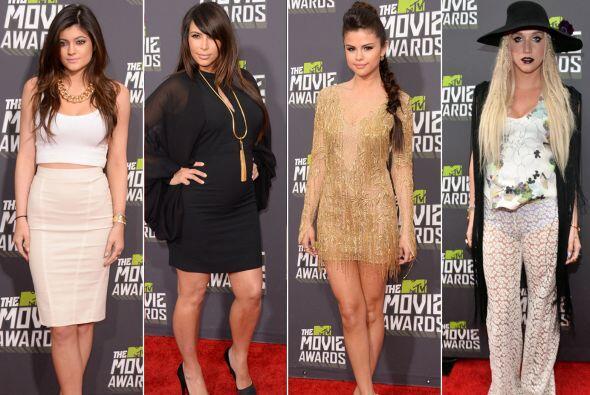 En los MTV Movie Awards 2013 Ke$ha llegó imitando alguno de los 'looks'...