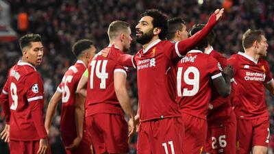 Liverpool, una máquina de anotar goles en la Champions 2017-2018