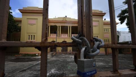 Una escuela en Puerto Rico.