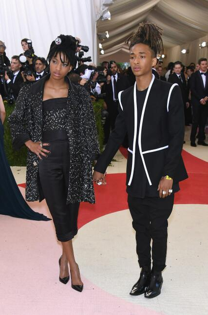 Willow Smith (L) and Jaden Smith attends the 'Manus x Machina: Fashi...