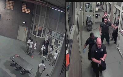 Ataque de presos de la cárcel del condado Cook contra oficiales queda ca...