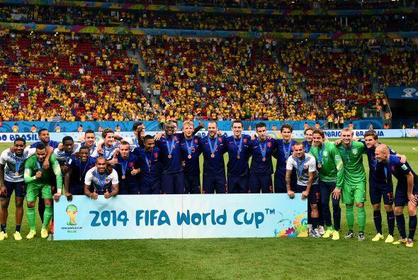 En el partido por el tercer lugar de la Copa del Mundo, Holanda se llevó...