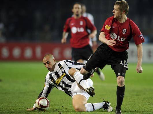 La Juventus disputó su choque con el Fulham.