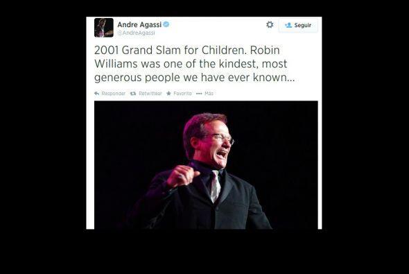 Andre Agassi, compartió una fotografía del actor. El ex tenista jugaba c...