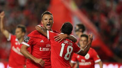 Benfica inició la defensa de su título con triunfo sobre Braga