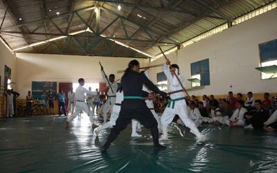 Hasta los 90, este arte marcial estaba reservado al ejército.