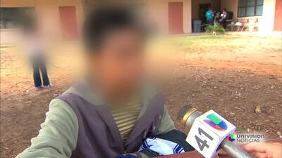 'Un hombre nos cruzó' dice un niño migrante