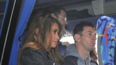 Messi y su mujer Antonella Roccuzzo.