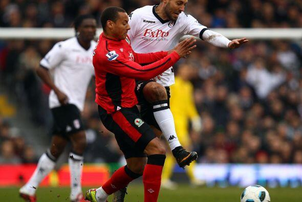 Fulham enfrentó como local al Blackburn Rovers y se llevó la victoria.