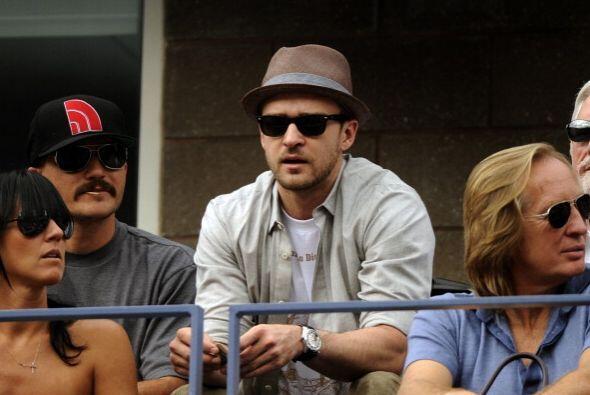 El cantante Justin Timberlake también se dejó ver en el US Open.