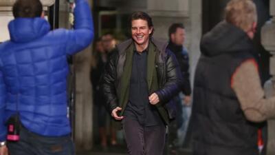 Tom Cruise filma escenas de Mission Impossible en el Piccadilly Circus e...